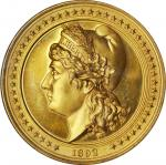 1892 Worlds Columbian Exposition. Landing of Columbus / Liberty Head Medal. Gilt. 50 mm. Eglit-51. P