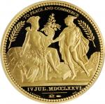 1776 United States Diplomatic Medal. Modern Paris Mint Dies. Gold. No. 0231/1,776. Gem Proof Deep Ca