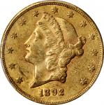 1892-CC Liberty Head Double Eagle. AU-50 (PCGS).