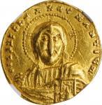 CONSTANTINE VII, with ROMANUS II, 913-959. AV Solidus (4.41 gms), Constantinople Mint, 945-959. NGC