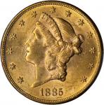 1885-S Liberty Head Double Eagle. MS-61 (PCGS).