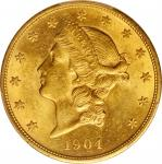 1904 Liberty Head Double Eagle. MS-62 (PCGS).