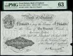Bank of England, Kenneth Oswald Peppiatt (1934-1949), 100, Liverpool, 29 September 1936, serial numb