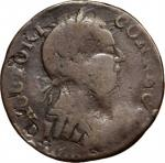 1787 Connecticut Copper. Miller 52-G.1, W-2745. Rarity-6-. Mailed Bust Right, Roman Head. Fine-12 (P