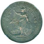 Great Britian, Victoria, Trade Dollar, 1895, NGCAU 53, rare date