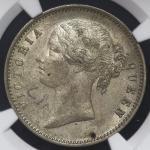INDIA British India イギリス领インド Rupee 1840 NGC-AU58 肖像面に落书 EF+
