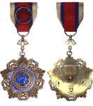民国北洋政府时期六等襟绶采玉勋章 优美