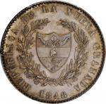COLOMBIA. 1848 pattern 8 Reales. Popayán mint. Restrepo P40. Silver. SP-64 (PCGS).