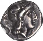 ITALY. Calabria. Tarentum. AR Drachm (3.28 gms), ca. 3rd Century B.C. NGC Ch VF, Strike: 4/5 Surface