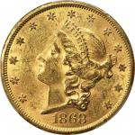 1868-S Liberty Head Double Eagle. MS-61 (PCGS). CAC.
