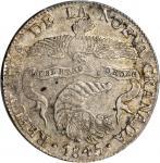 COLOMBIA. 1845-RS 8 Reales. Bogotá mint. Restrepo 194.10. AU-55 (PCGS).