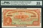 Union Bank of Australia Limited, New Zealand, 10/-, 1 October 1923, serial number 2/N 592885, orange