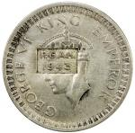 BRITISH INDIA: Provisional Government of Azad Hind, AR rupee, 1943, countermarked P.G.A.H. 1943 on a