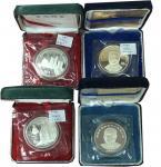 1989-1997年10元及历史人物纪念币一组12枚 完未流通