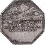 1901 Lesher or Referendum Dollar. Imprint Type. HK-791, Zerbe-5. Rarity-6. Silver. No. 1. MS-63 (PCG