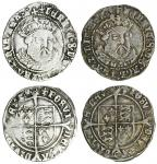 Henry VIII (1509-47), third coinage, Groats (2), both Tower mint, 2.40g, m.m. lis, henric 8 di g agl