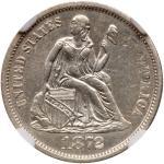 1872-CC Liberty Seated Dime. NGC AU55