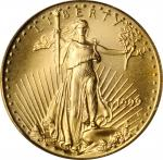 1999-W Tenth-Ounce Gold Eagle--Struck from Unfinished Proof Dies--MS-69 (PCGS).