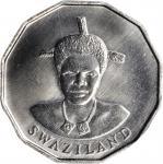 SWAZILAND. 50 Cents, 1986. PCGS SPECIMEN-67 Gold Shield.