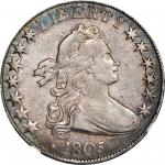 1805 Draped Bust Half Dollar. O-107, T-7. Rarity-5. EF-40 (NGC).