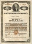 United States of America. Acts of September 24, 1917, amended April 4, 1918. $50. 4-1/4% Registered