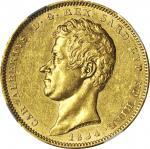 ITALY. Sardinia. 100 Lire, 1834-P. Torino Mint. NGC MS-61.