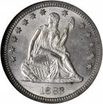 1883 Liberty Seated Quarter. MS-64 (NGC).