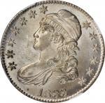 1833 Capped Bust Half Dollar. O-103. Rarity-2. MS-65 (NGC).