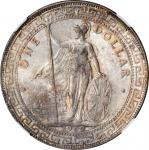 1902-B年英国贸易银元站洋一圆银币。GREAT BRITAIN. Trade Dollar, 1902-B. Bombay Mint. Edward VII. NGC MS-64.