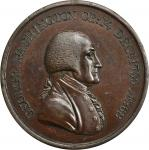 1800 Washington Hero of Freedom medal. Baker-79, Musante GW-81. Copper. MS-62 BN (PCGS).<p>