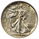 1919-D Walking Liberty Half Dollar. MS-64 (NGC). CAC.