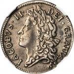 IRELAND. Shilling, 1689-Jan. James II (1685-91). NGC PROOF-40.
