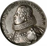 ITALY. Mantua. Ducatone, ND (1627). Vincenzo II. NGC EF-45.