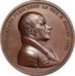 1825 John Quincy Adams Indian Peace Medal. Copper, Bronzed. Second Size. Second Reverse. Julian IP-1