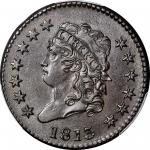 1813 Classic Head Cent. S-292. Rarity-2. MS-62 BN (PCGS).