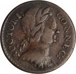 1785 Connecticut Copper. Miller 3.4-F.1, W-2340. Rarity-3. Mailed Bust Right. VF-30 (PCGS).