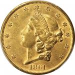 1861-S Liberty Head Double Eagle. AU-58 (PCGS). CAC.