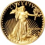 1990-P Quarter-Ounce Gold Eagle. Proof-69 Deep Cameo (PCGS).