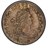 1804 Draped Bust Dime. 13 Star. John Reich-1. Rarity-5. About Uncirculated-55 (PCGS).PCGS Population
