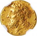 SICILY. Syracuse. Timoleon & The Third Democracy, ca. 345-317 B.C. AV 30 Litrai (1/4 Stater) (1.98 g