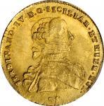ITALY. Naples & Sicily. 6 Ducati, 1767-DG CCR. Ferdinand IV. PCGS MS-65 Gold Shield.