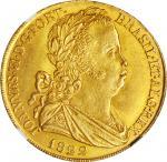 PORTUGAL. 6400 Reis (Peca), 1822. John VI. NGC MS-63.
