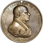 1825 John Quincy Adams Indian Peace Medal. Silver. First Size. Julian IP-11, Prucha-42. Extremely Fi