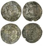 Edward VI (1547-53), coinage in the name of Henry VIII, Groats (2), both Southwark, 2.39g, m.m. -/E,