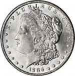 1886-O Morgan Silver Dollar. MS-63 (PCGS). CAC.