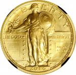 2016-W 100th Anniversary Standing Liberty Quarter. Gold. Early Releases. Specimen-70 (NGC). Retro Bl