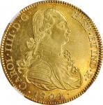 MEXICO. 8 Escudos, 1804-Mo TH. Mexico City Mint. Charles IIII (IV). NGC MS-62.