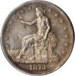 1873-S Trade Dollar--Chopmark--AU Details--Smoothed (PCGS).