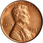 1924-S Lincoln Cent. MS-65 RD (PCGS). OGH.