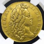 GREAT BRITAIN イギリス William III ウィリアム3世(1694~1702) 2Guineas 1701 NGC-XF DetailsMount Removed 12时の位置にマ